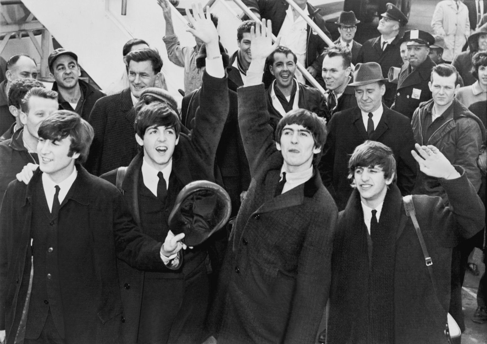 The Beatles at JFK airport