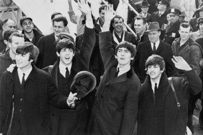 The Beatles at JFK airport