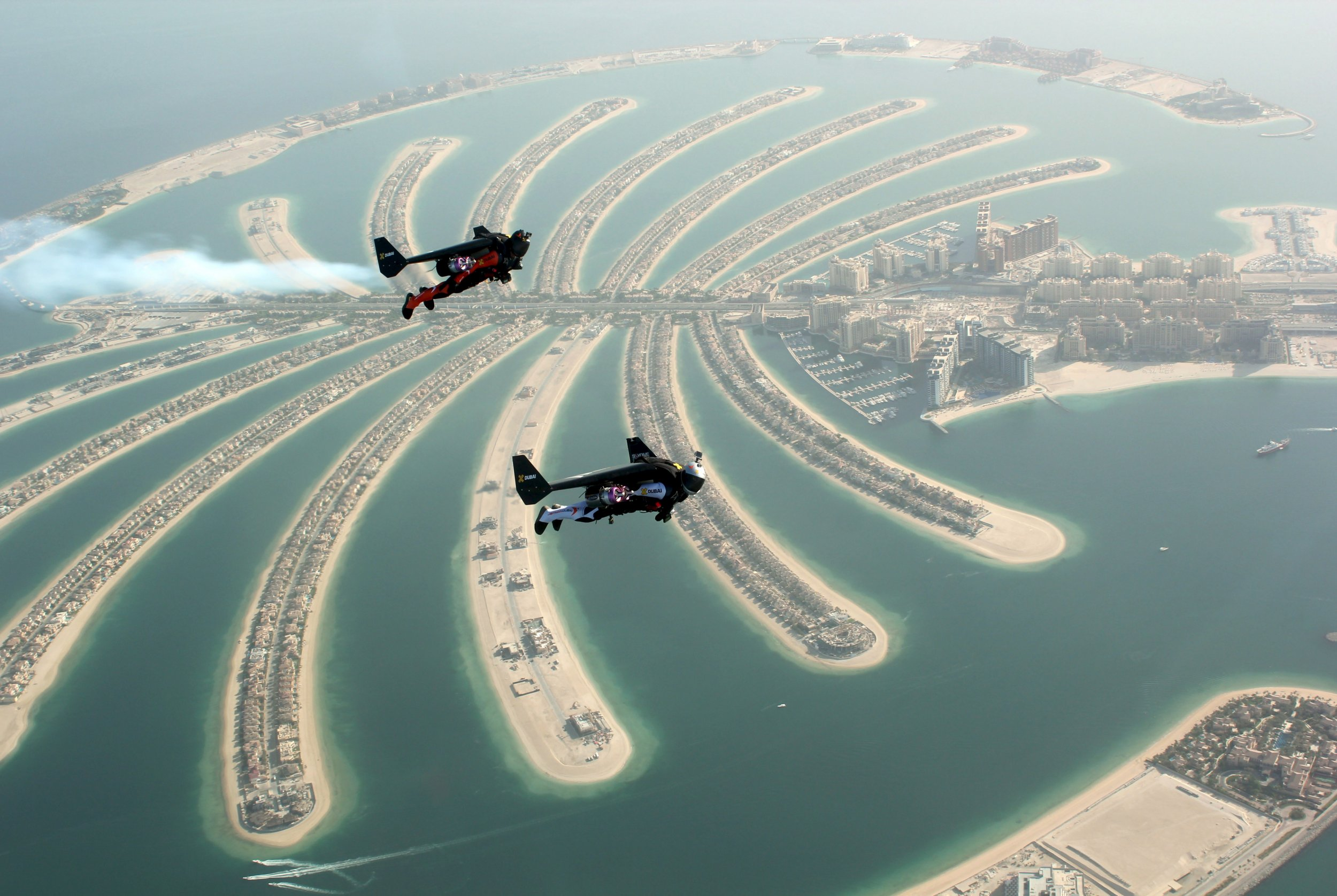Watch Two Men Fly Over Dubai In Jetpacks