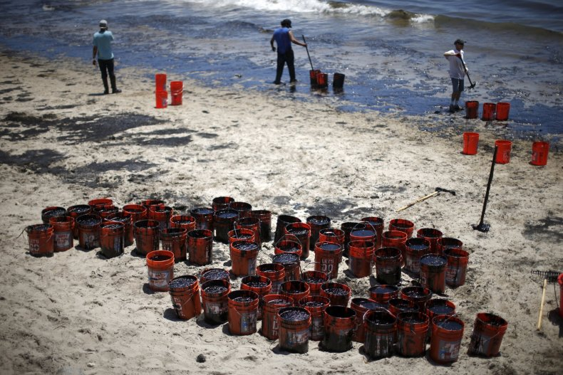 Oil Spill Cleanup Underway in California