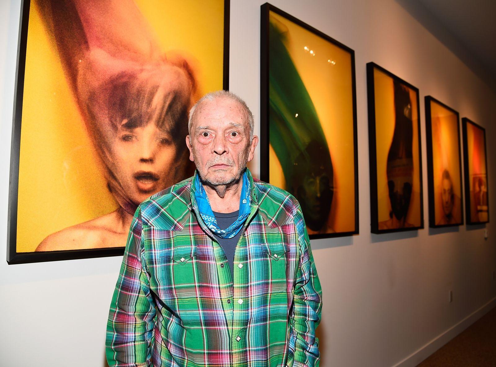 Photographer David Bailey at exhibition