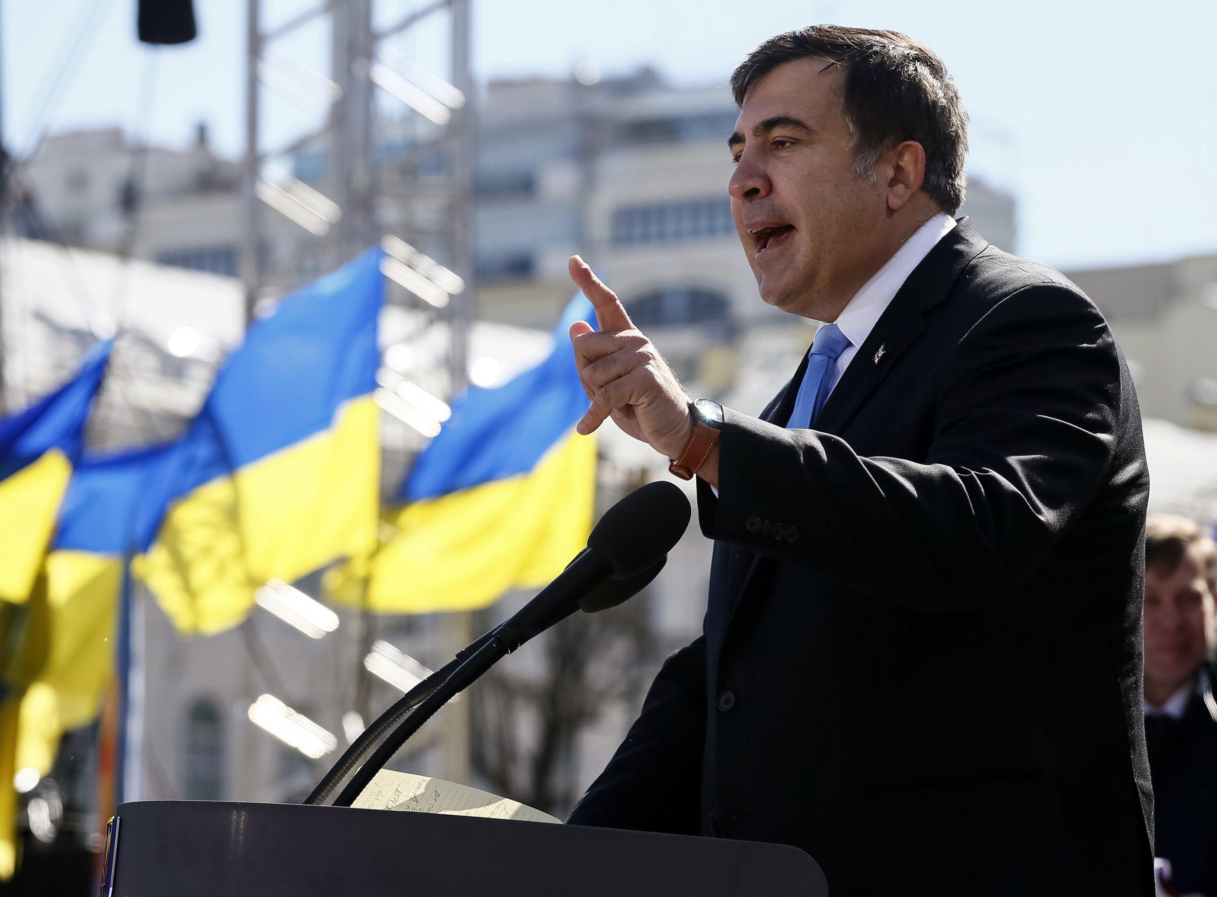 Mikhail Saakashvili in Ukraine