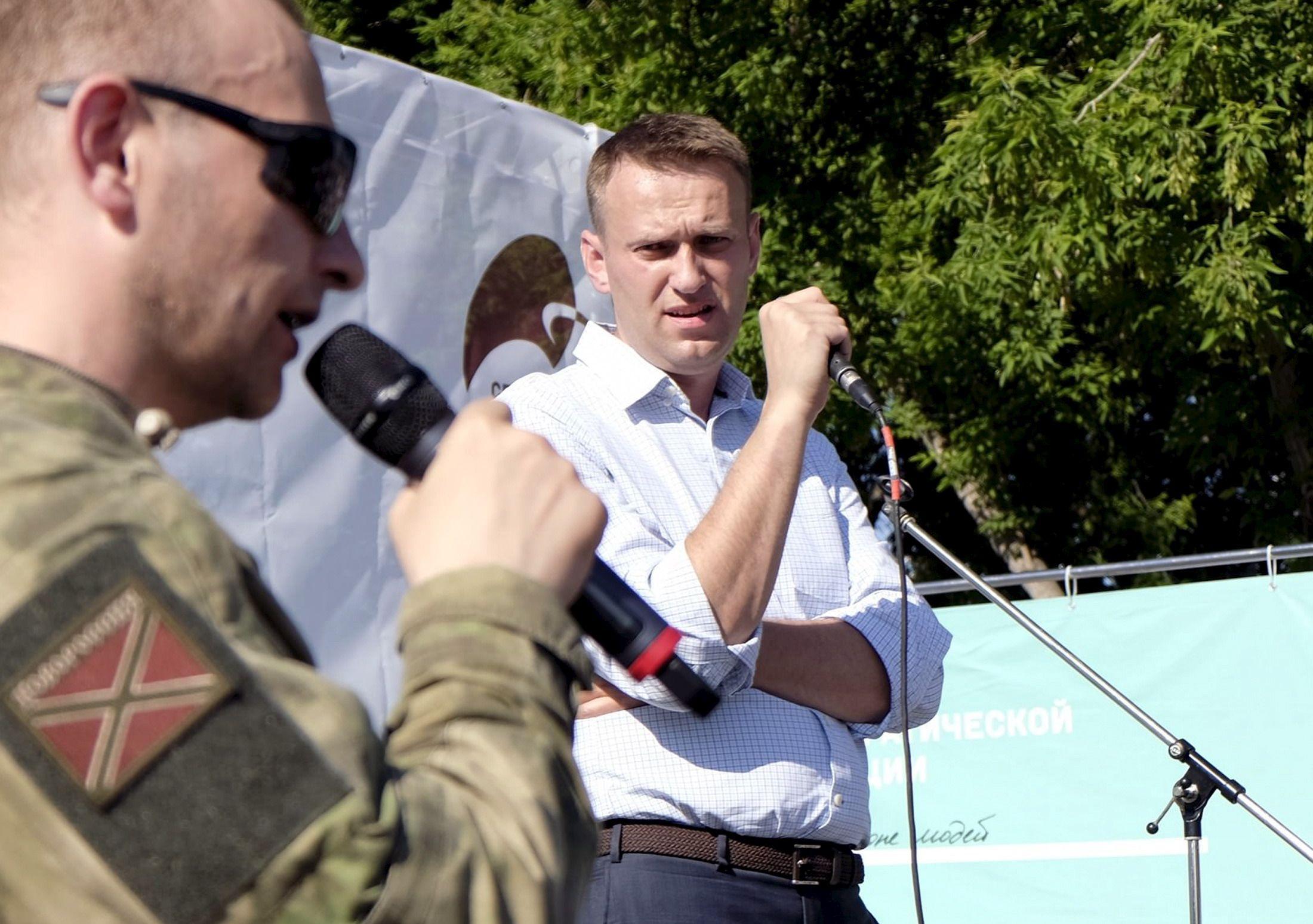 Alexey Navalny in Novosibirsk