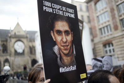 Paris protest to support Raif Badawi