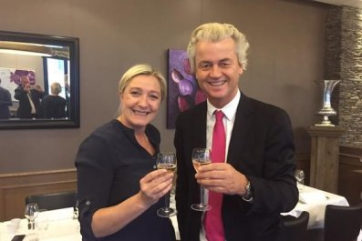 Le Pen and Wilders celebrate new group