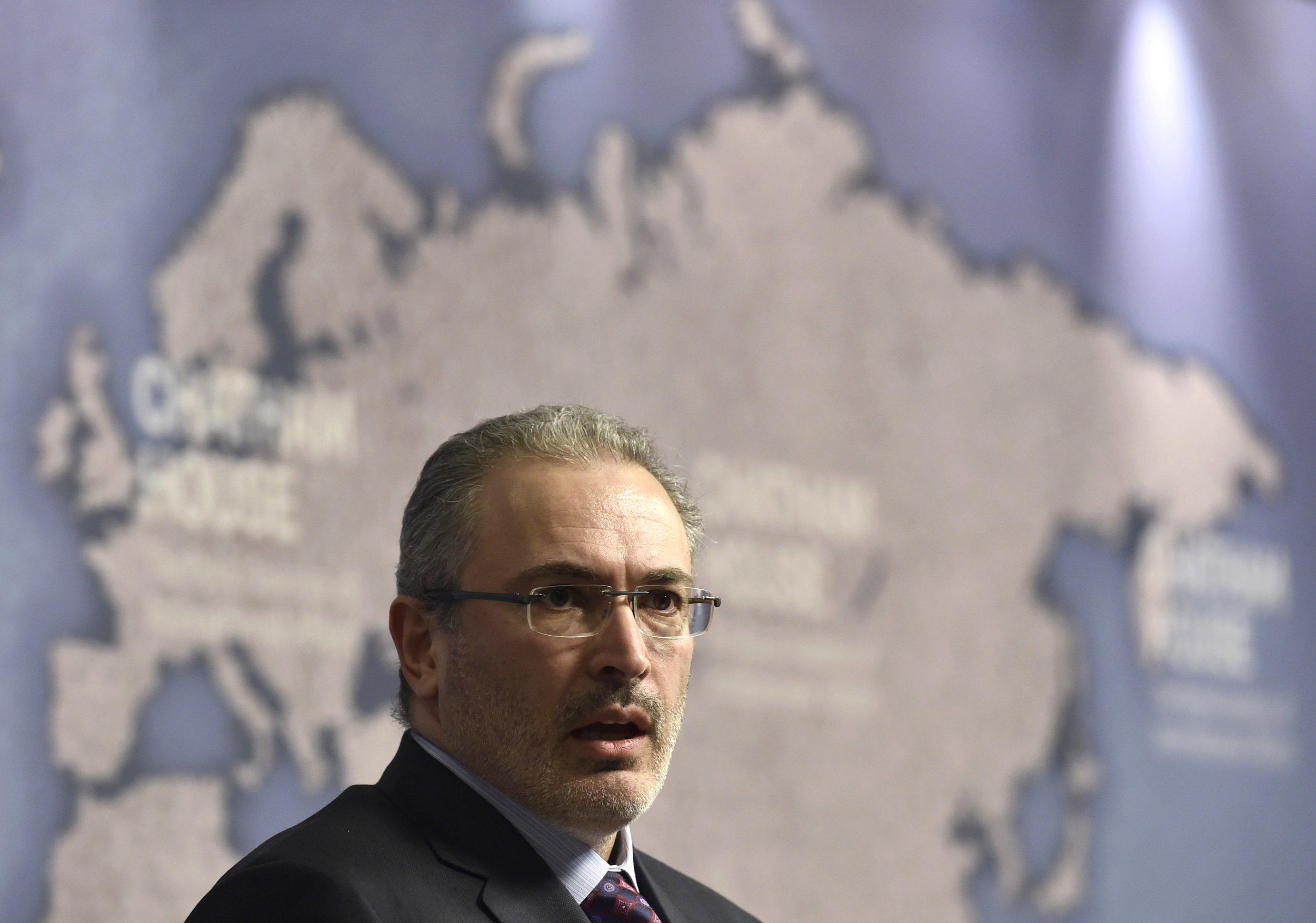 Mikhail Khodorkovsky in London