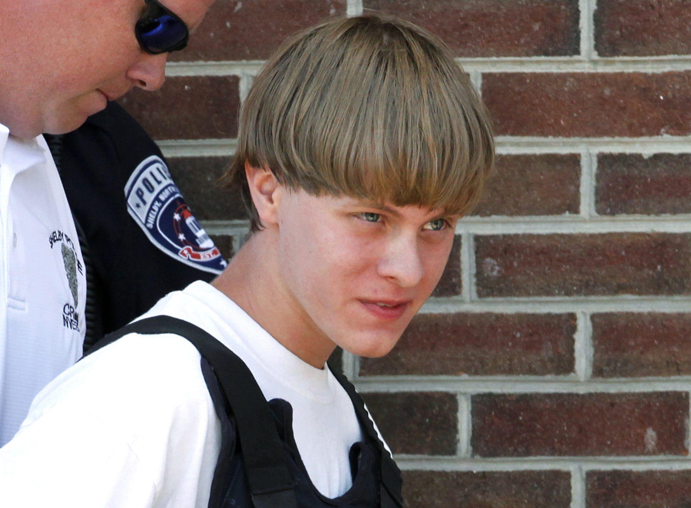 Photo of dylann Roof under arrest