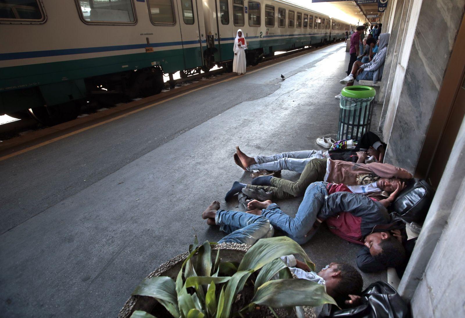 Migrants on French-Italian Border