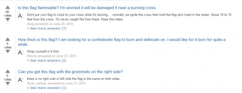 Confederate flag questions