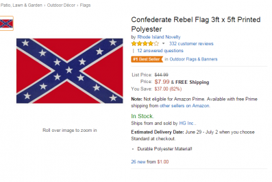 Confederate flag sold on Amazon