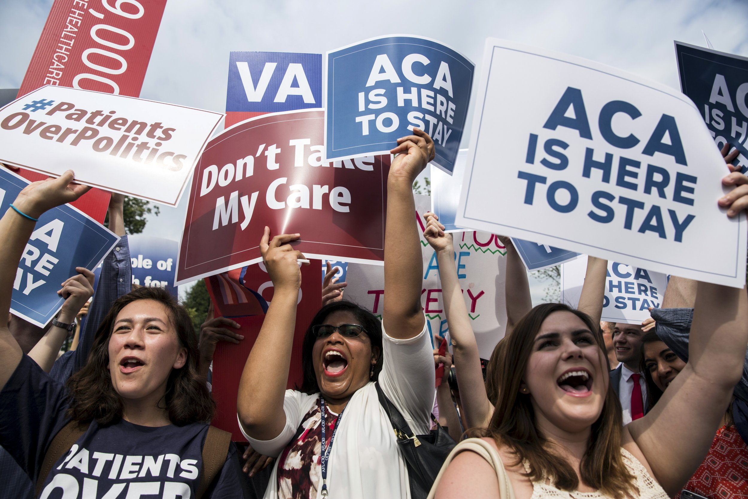 Image result for IMAGES PROTESTS IN FAVAOR OF SAVING ACA