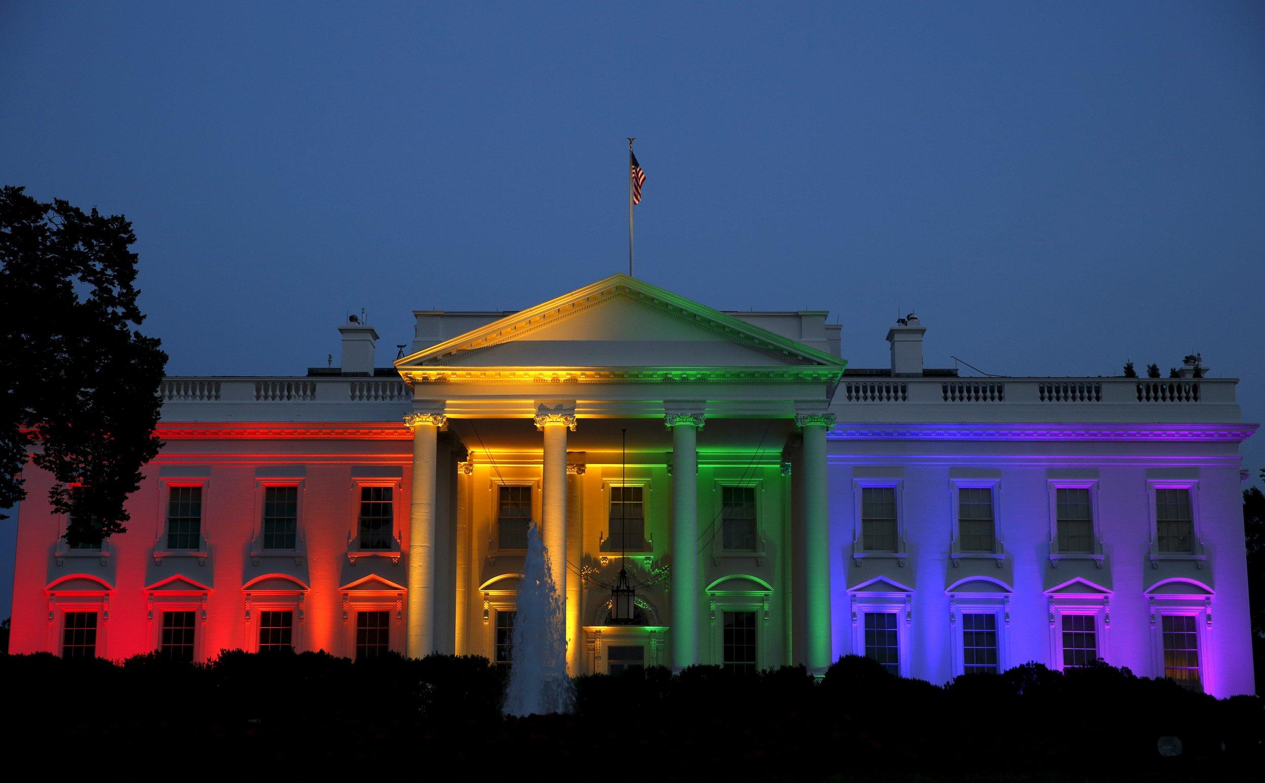 White House Rainbow 3