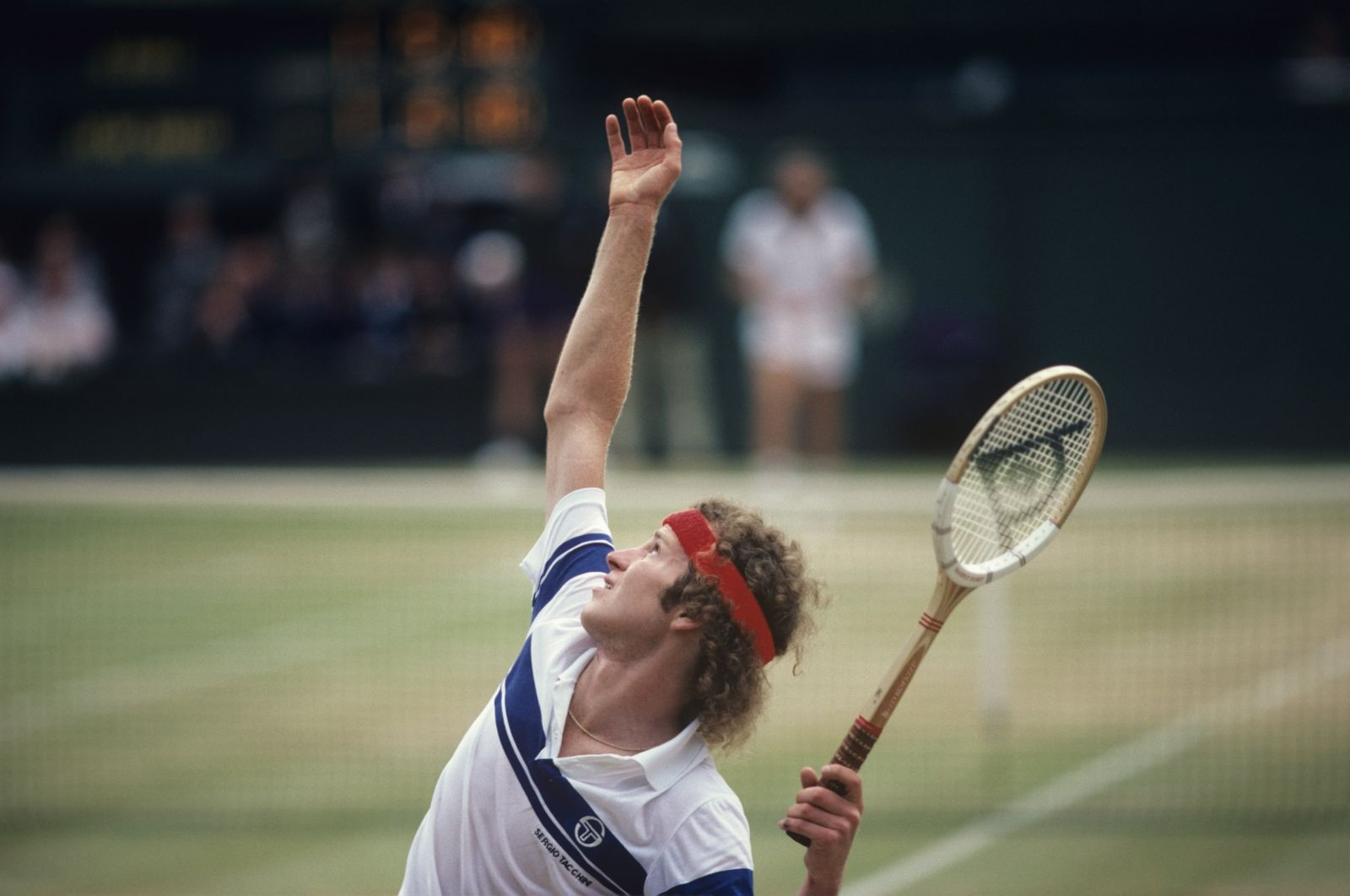 John McEnroe serves to Björn Borg