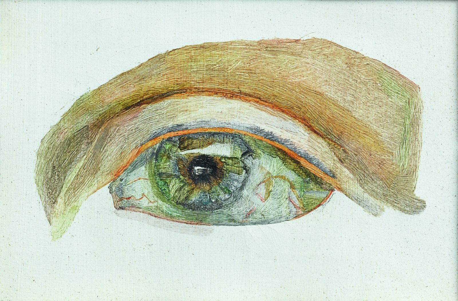 Lucian Freud Caroline Blackwood eye painting