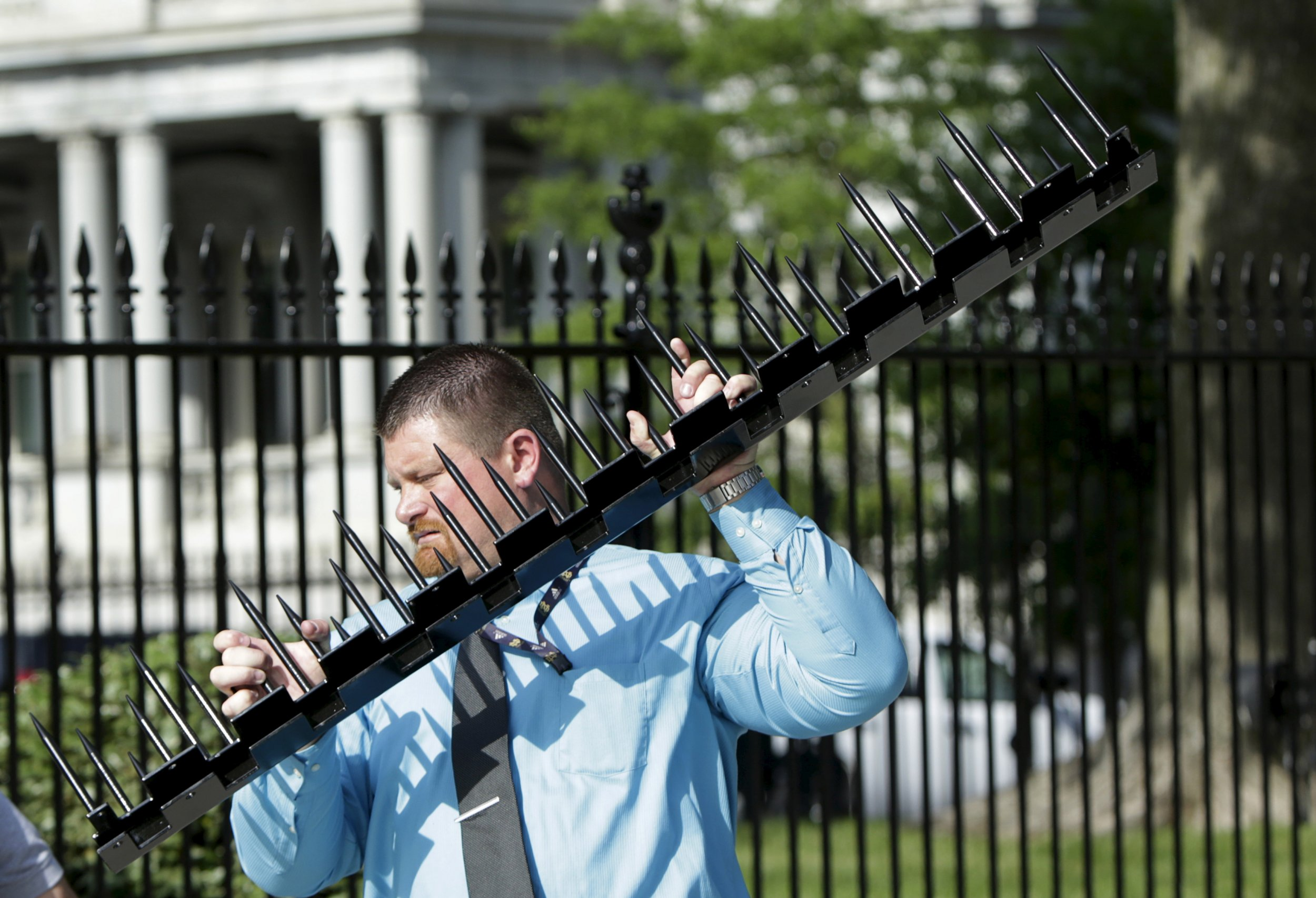 White House Fence Gets Spiky Security Enhancement