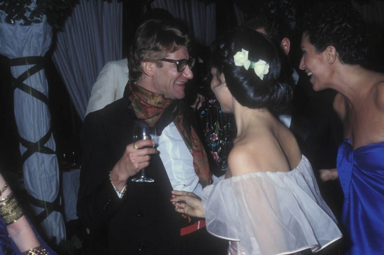 YSL with Bianca Jagger