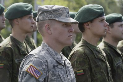 NATO military exercise soldiers