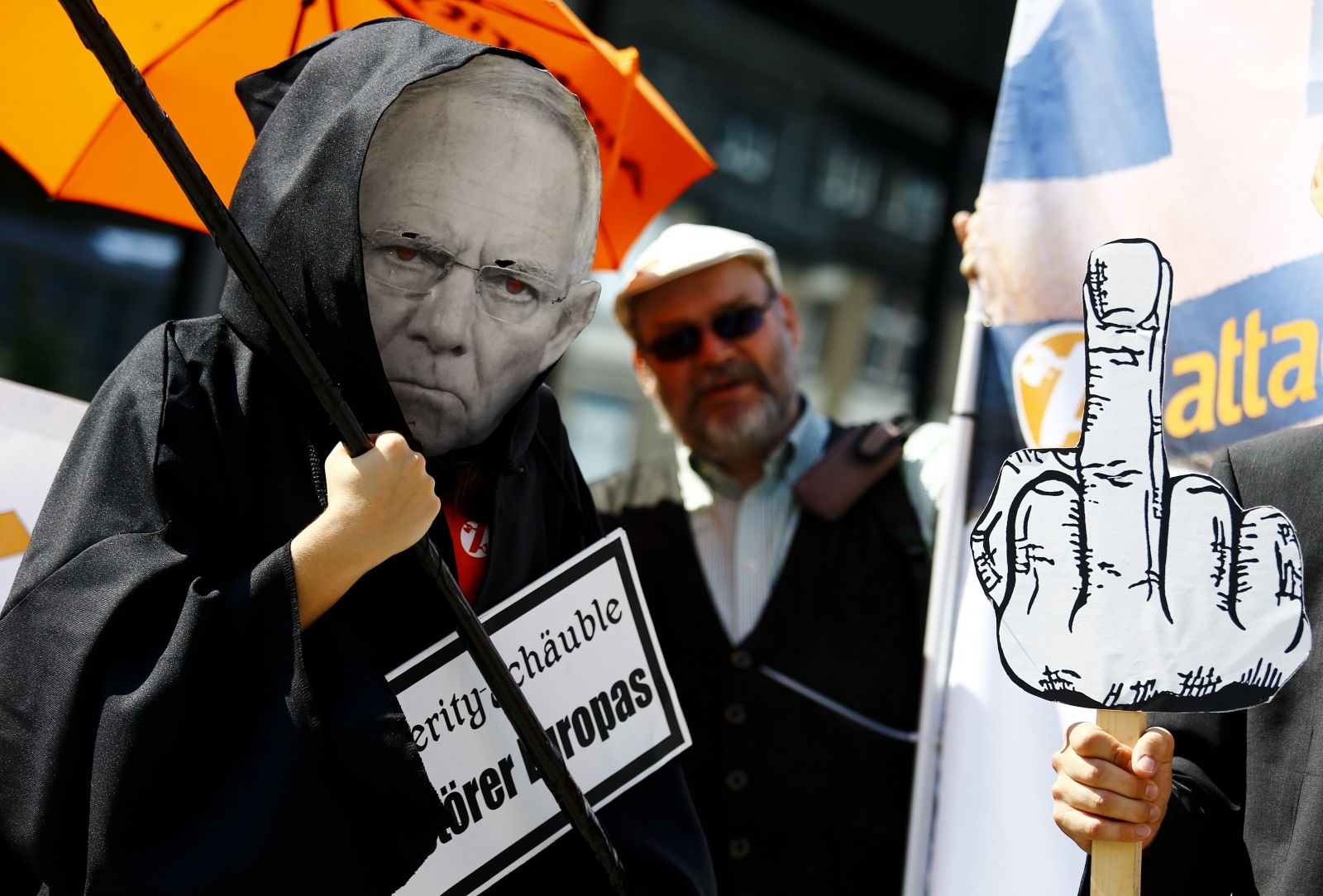 german protests over treatment of greece