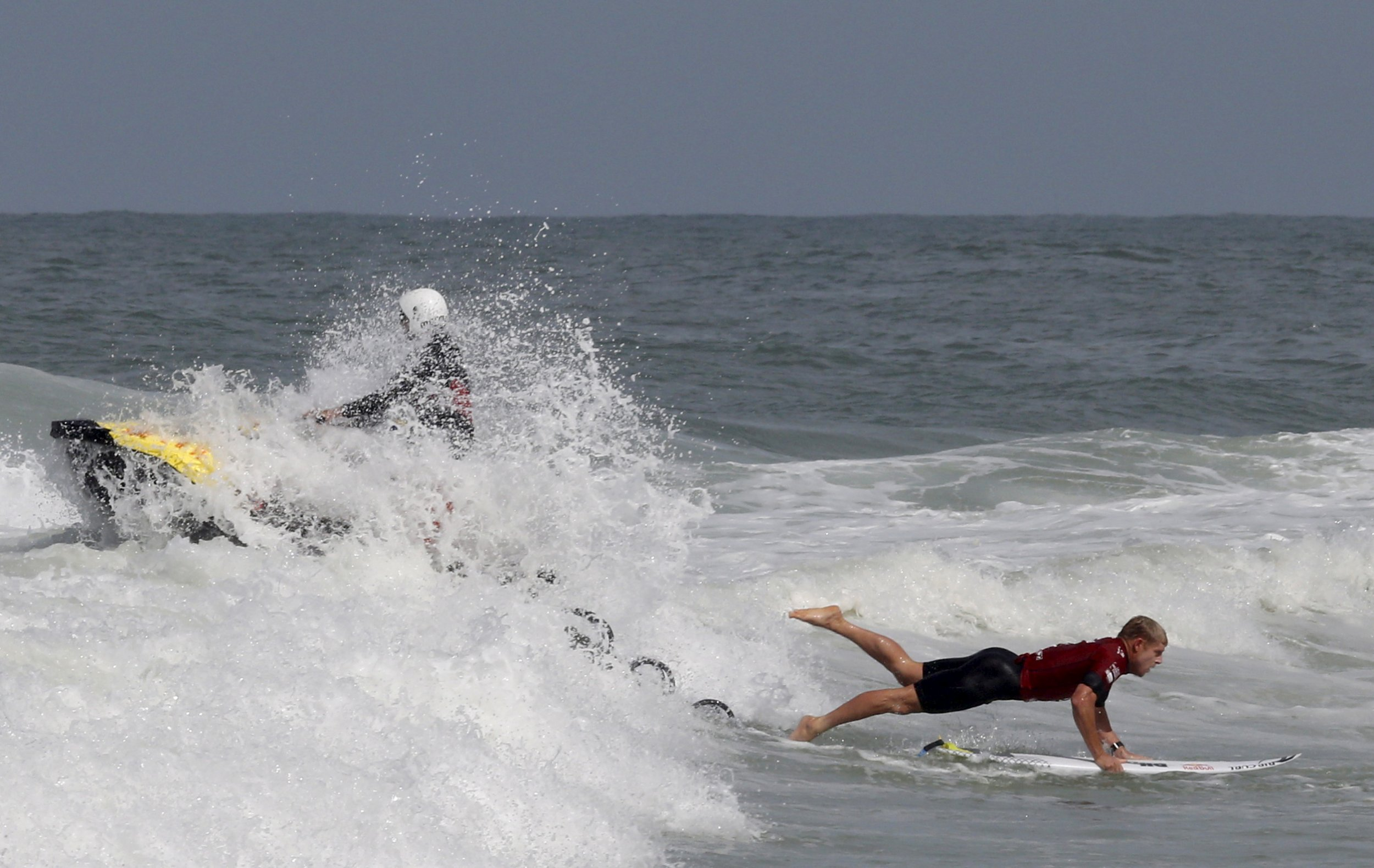 Mick Fanning Punches Shark At A Surfing Event