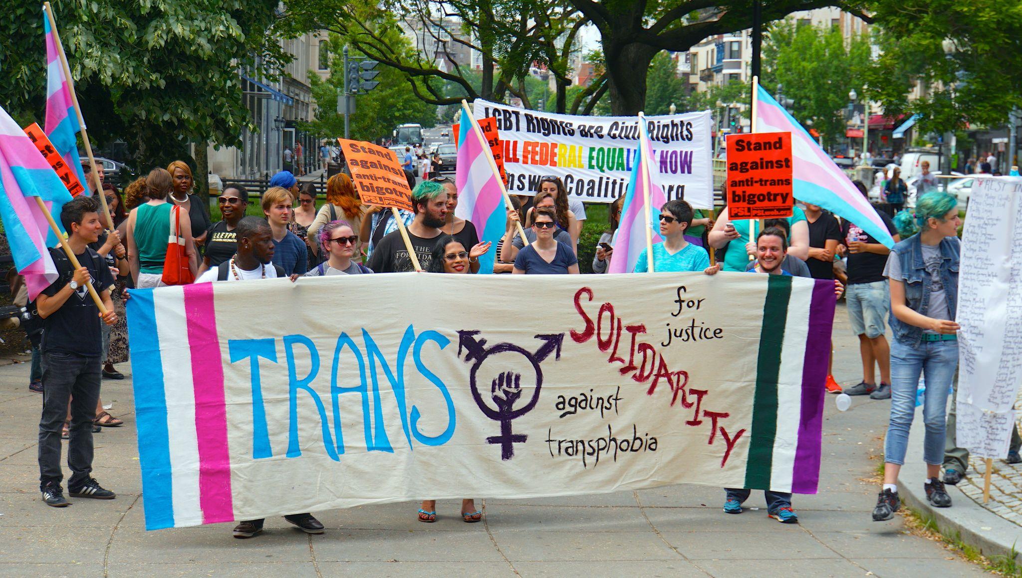 Transgender rights march