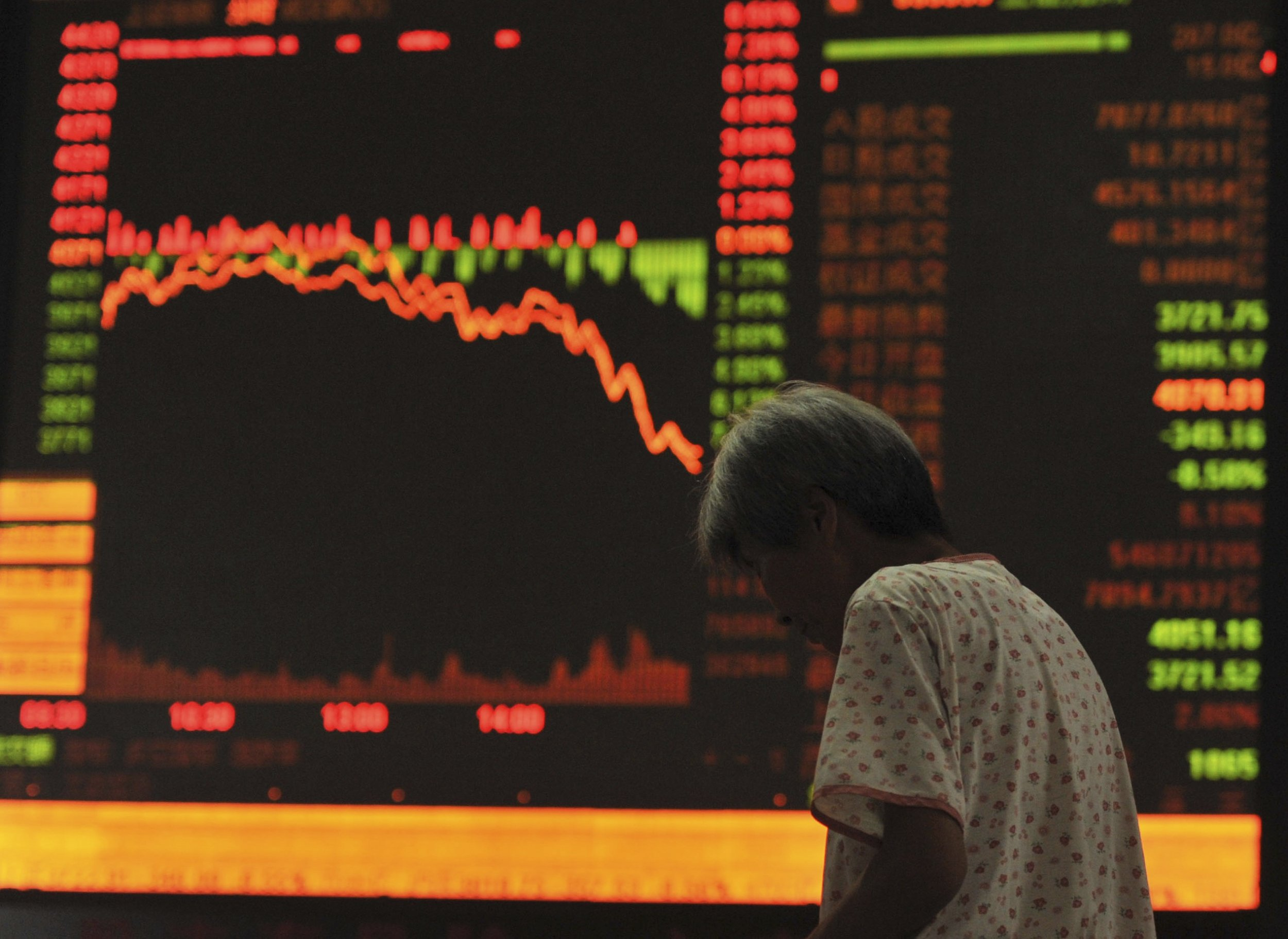 Chinese Stocks Lose 8.5% in a Day