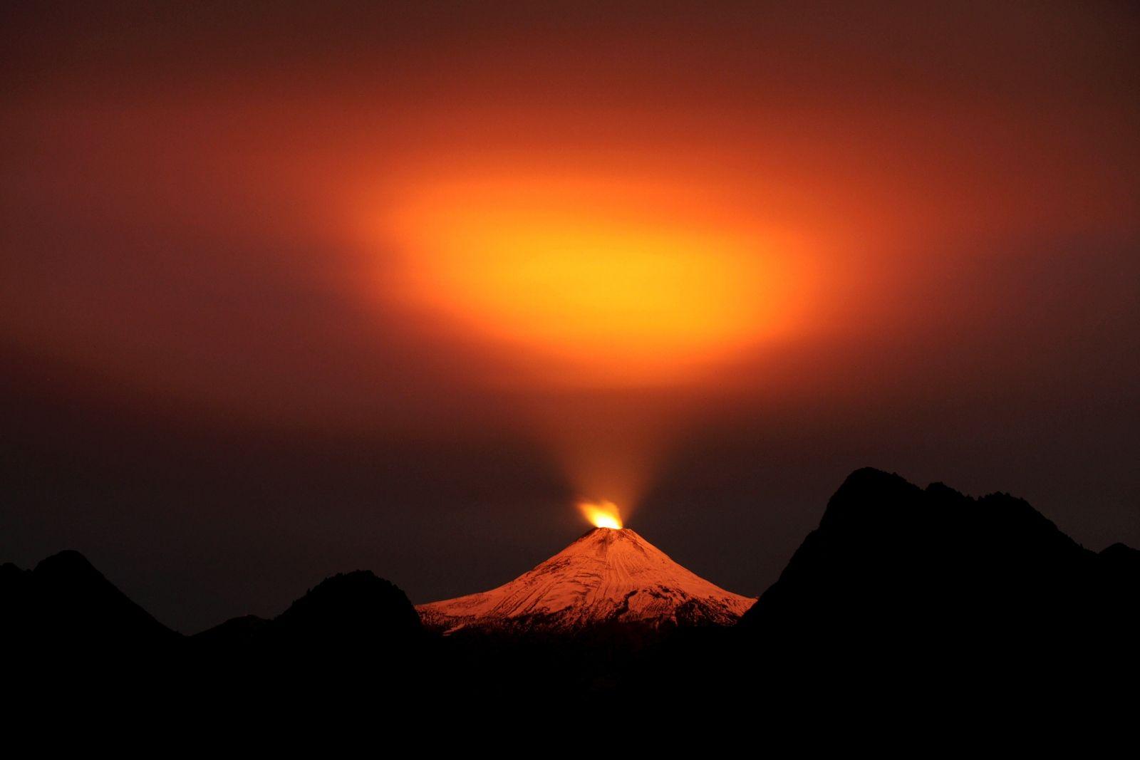 Drones filming volcanos