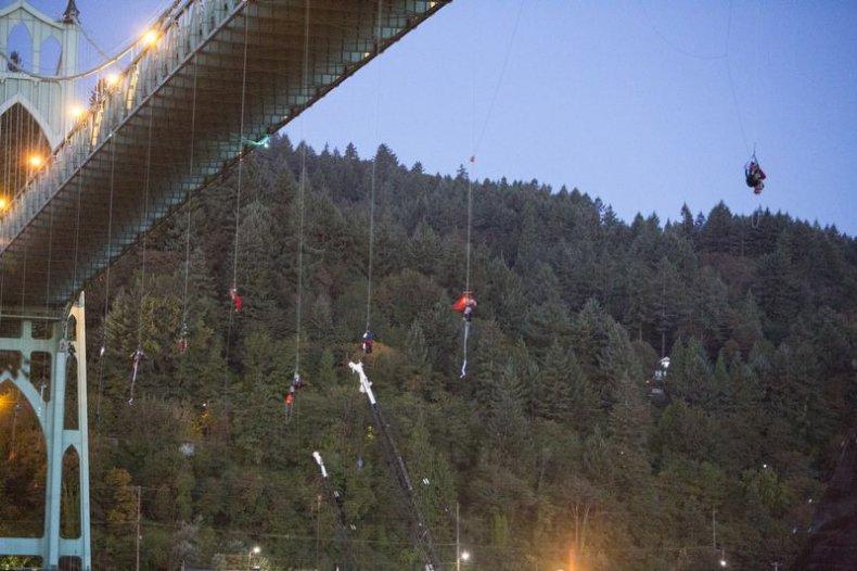 Greenpeace Arctic Drilling Portland Bridge Protest