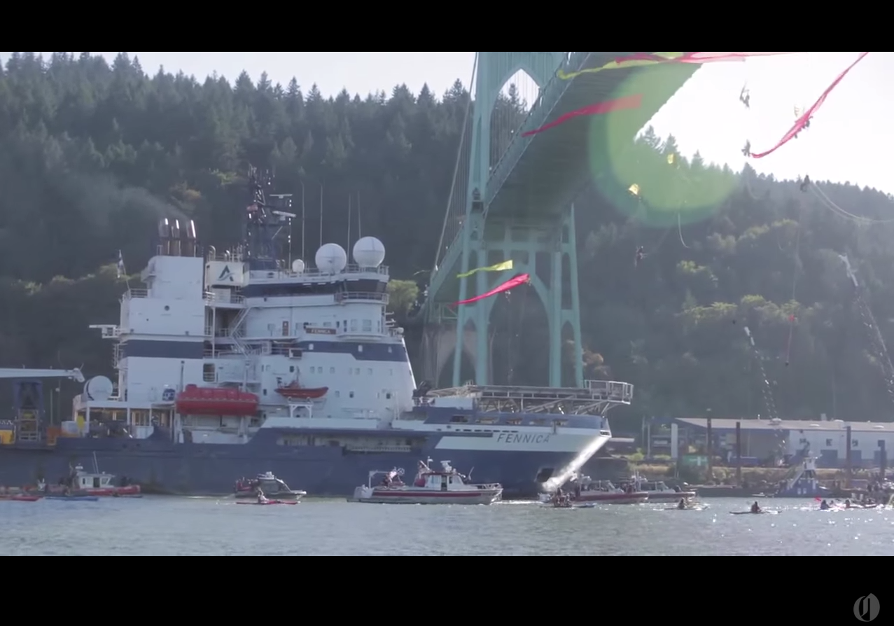 Shell Arctic Drilling Portland Protest