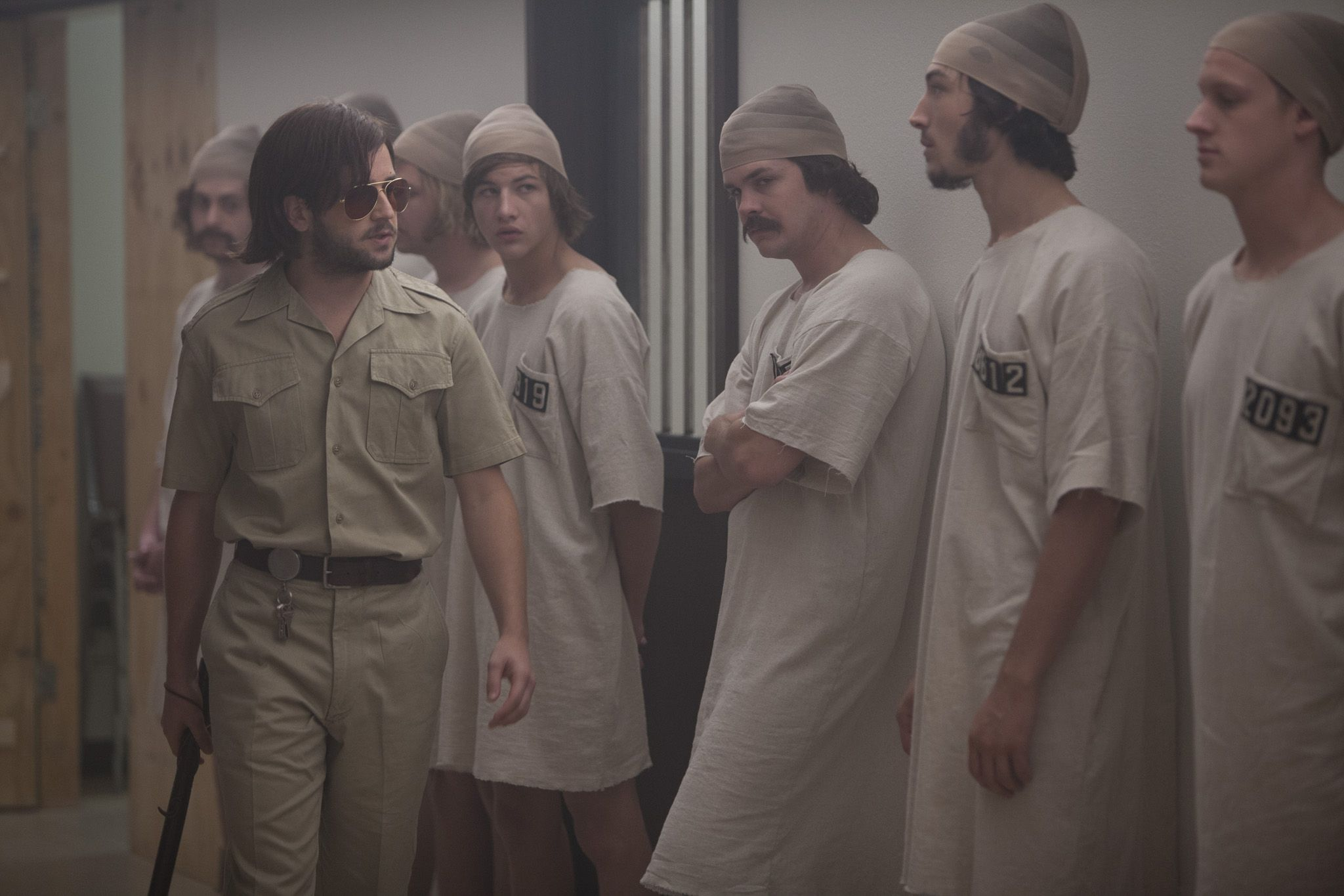 THE STANFORD PRISON EXPERIMENT Michael Angarano & Tye Sheridan & Johnny Simmons & Ezra Miller & Chris Sheffield Photo by Jas Shelton (1)