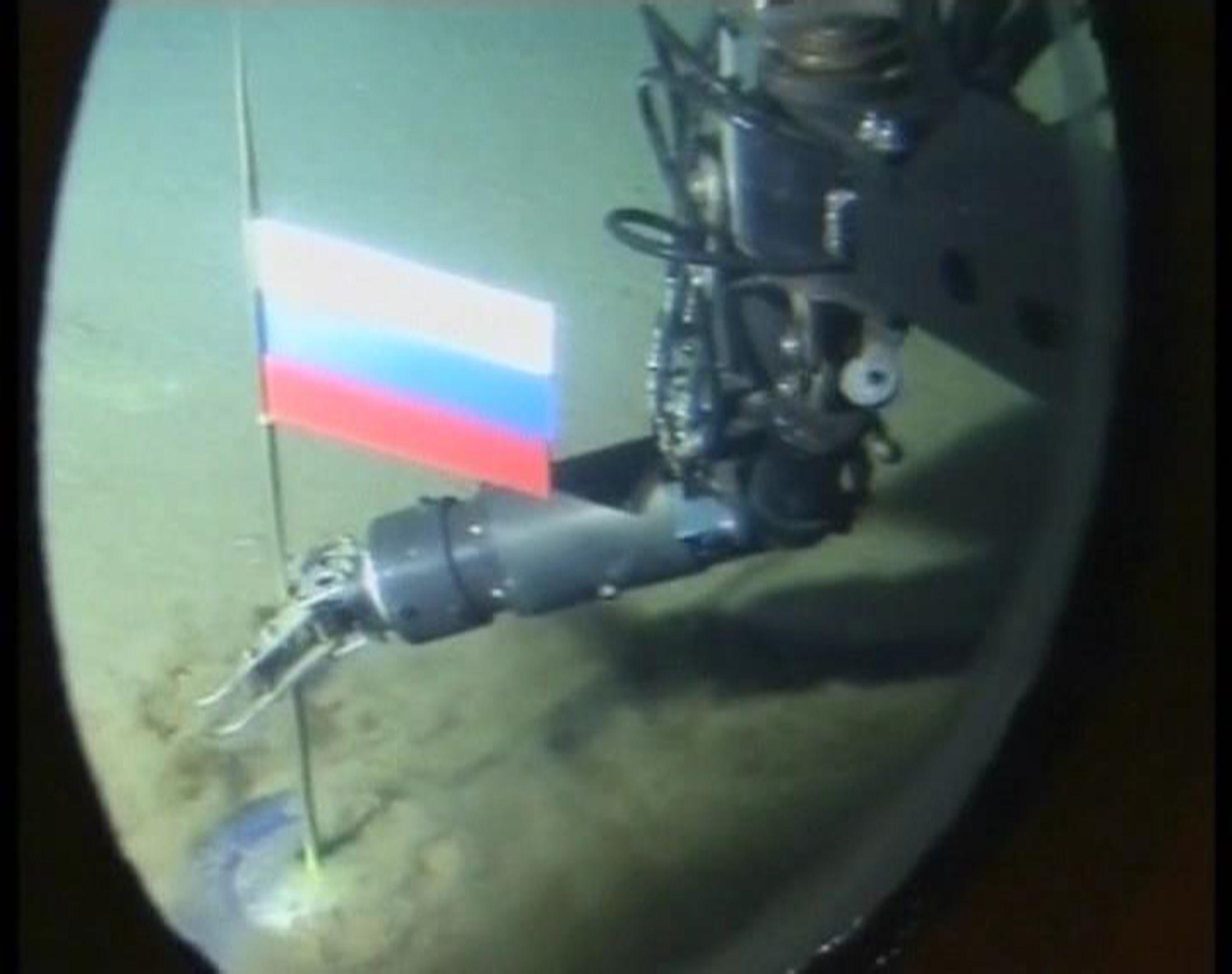 Russian Flag North Pole
