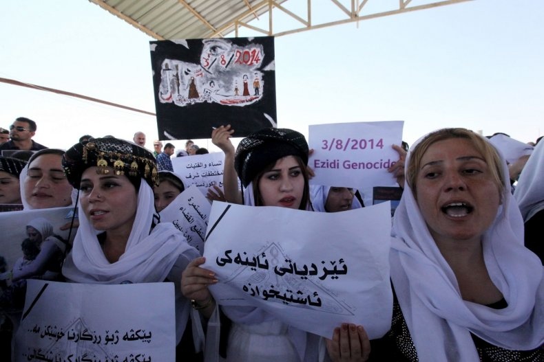 Yazidi Sinjar massacre anniversary protest