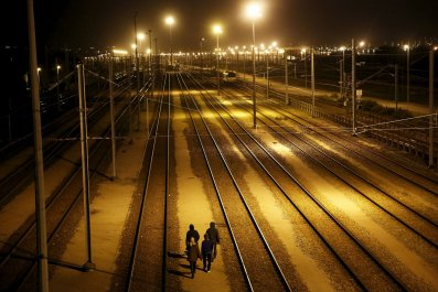 Migrant 'almost' walks the Channel Tunnel
