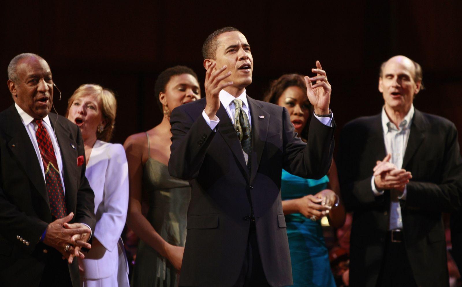 Obama singing