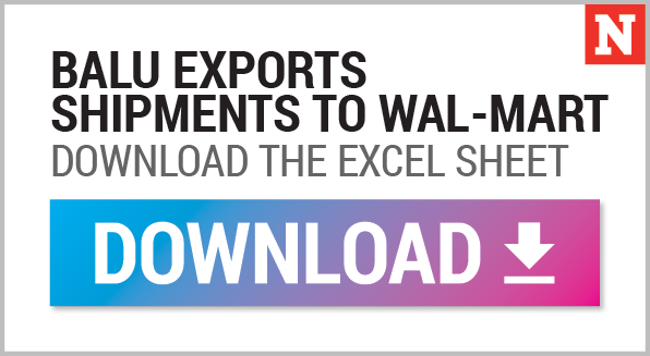 Download Balu to Walmart Excel Sheet