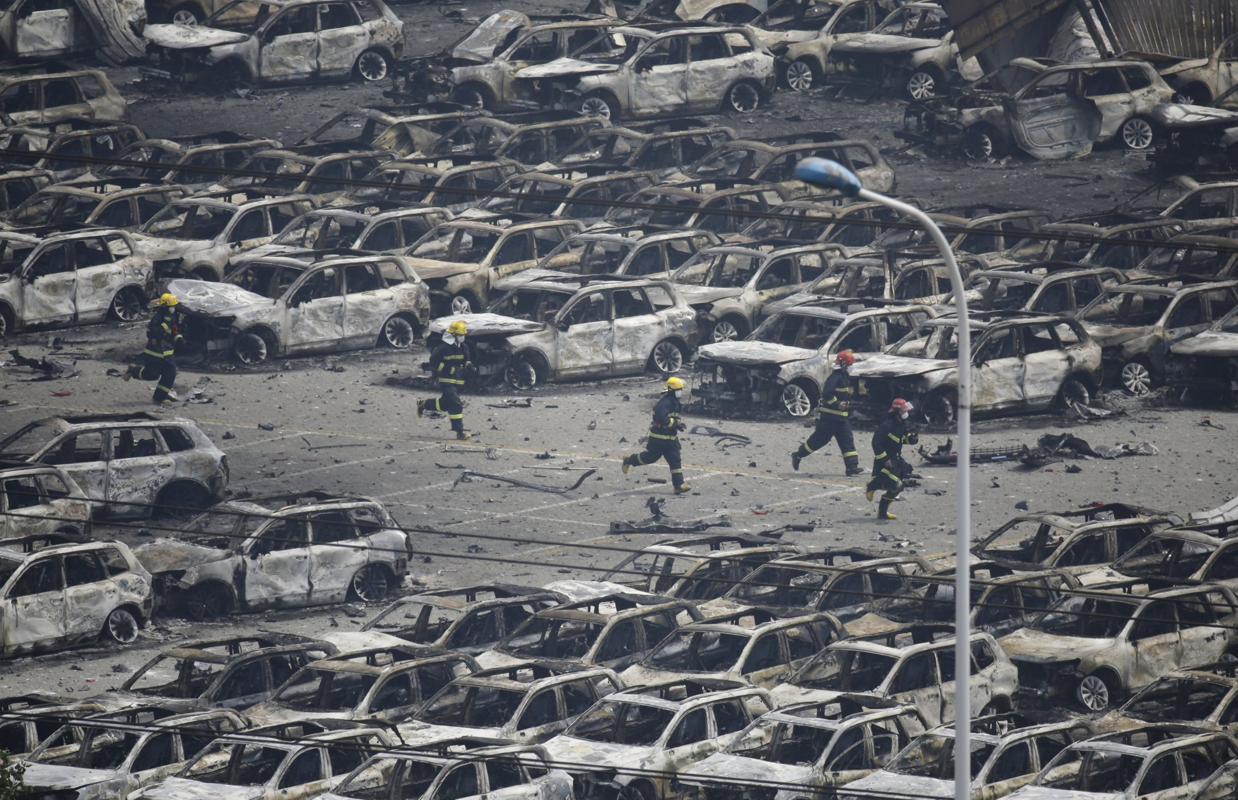 Tianjin China  city images : Video Shows Eerie Aftermath of Explosion in Tianjin, China