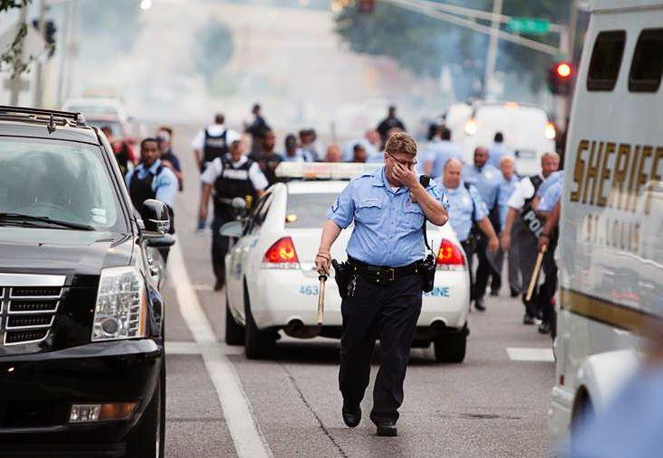 tear gas in st. louis