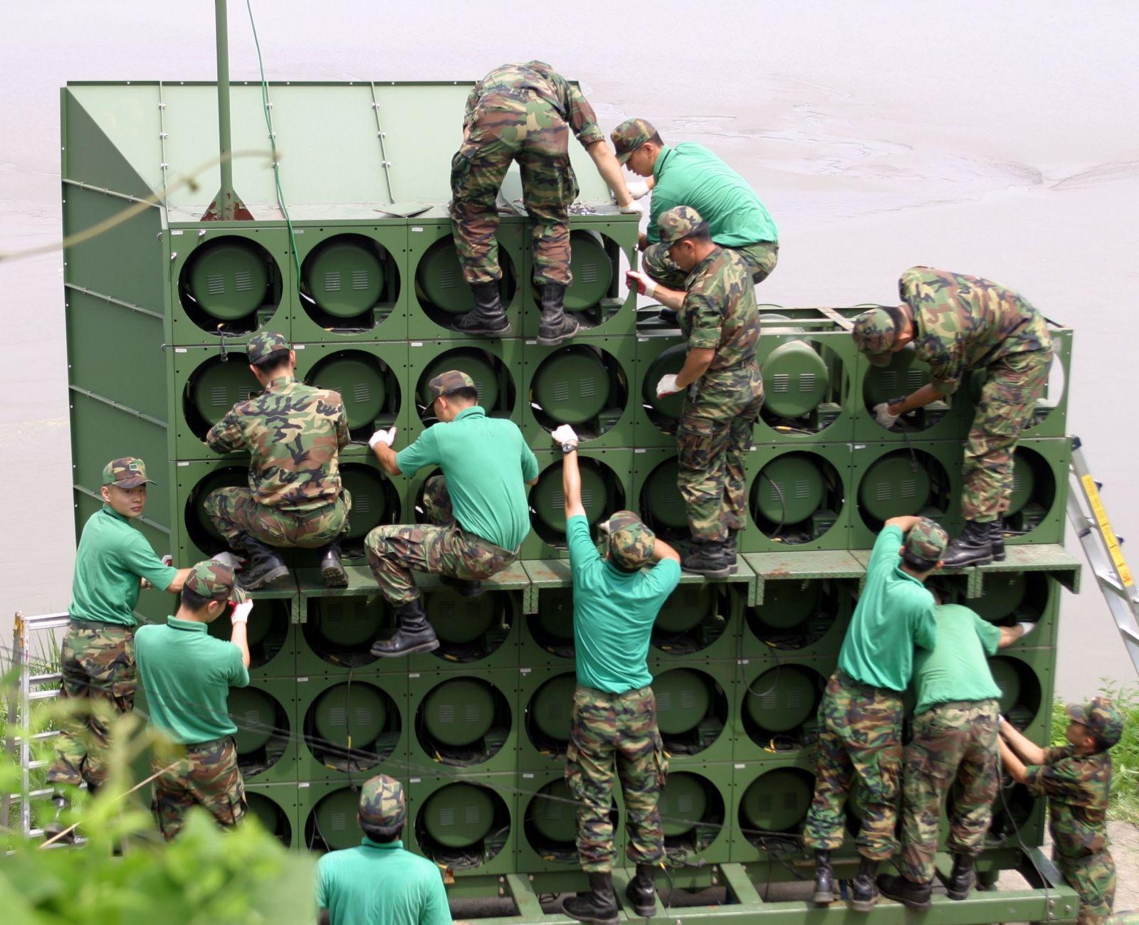 North Korea South Korea Loudspeakers