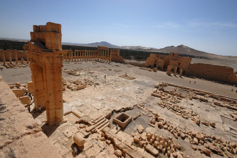 ISIS Palmyra Middle East Temple Bel