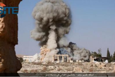 ISIS Bombing Palmyra