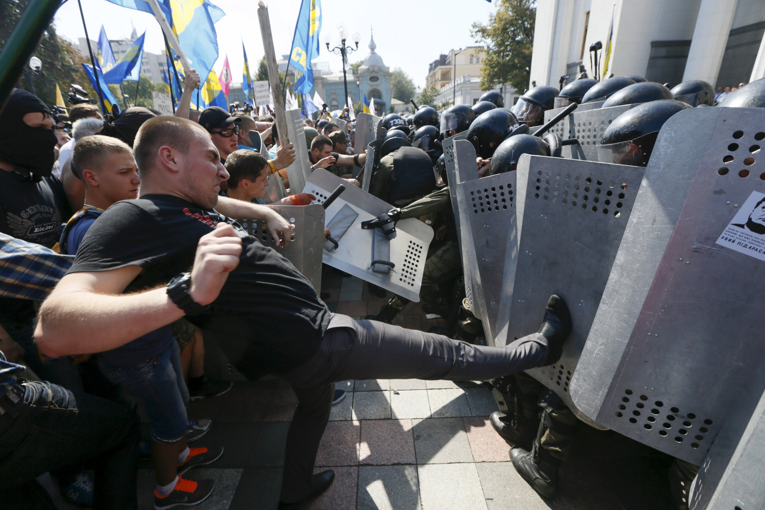 Putin's War: Kiev Protests Reflect Frustration With War ...