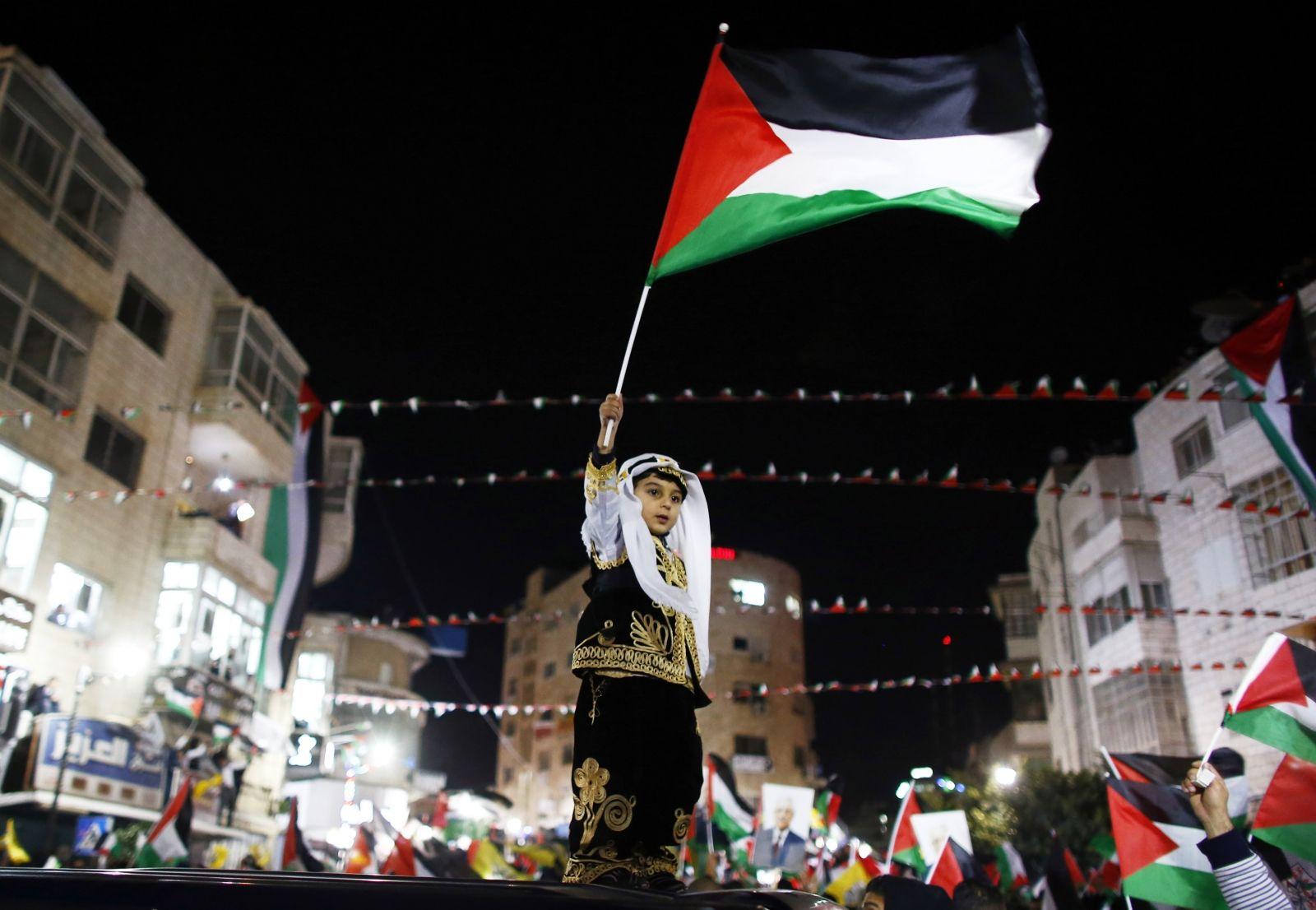 Palestinian Flag UN Israel