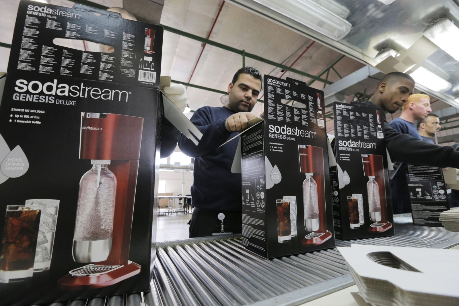 Employees at SodaStream in West Bank
