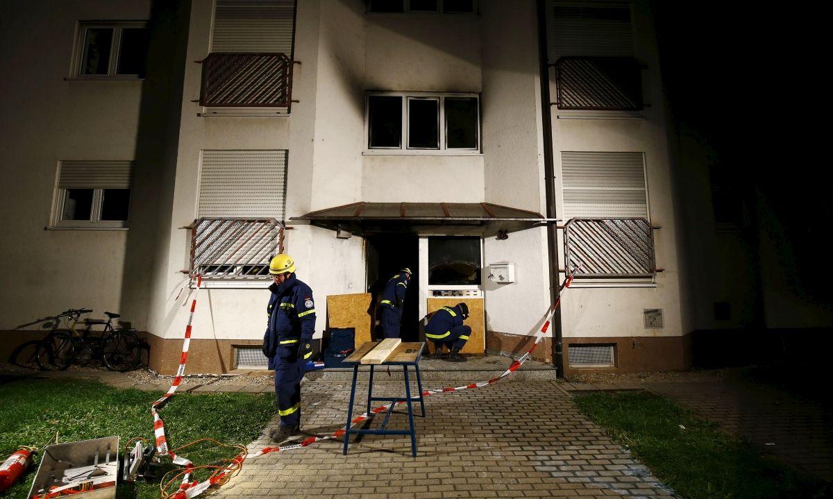 Fire at German refugee centre