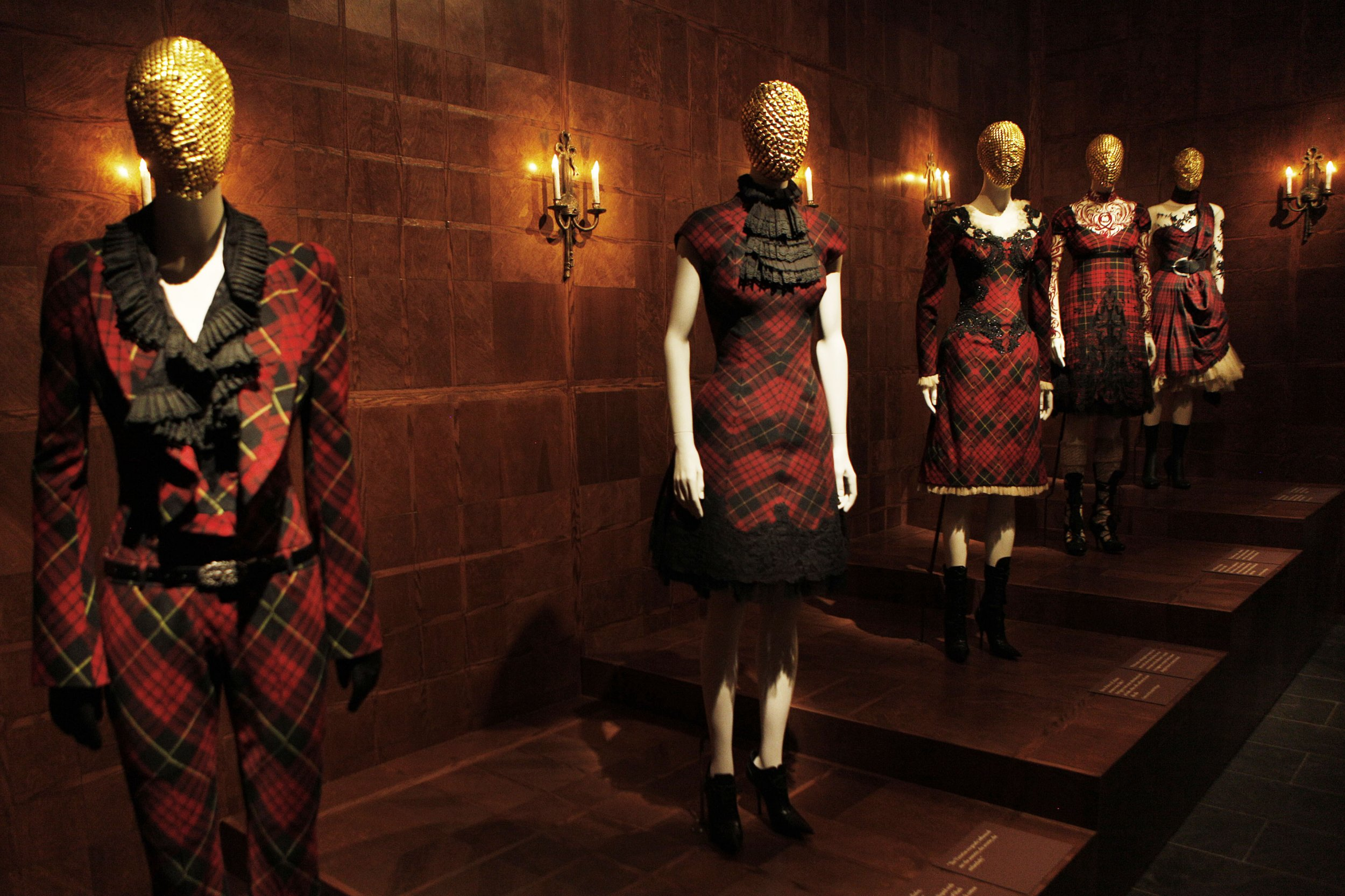 Alexander mcqueen fashion as art installation for Museum of fashion nyc