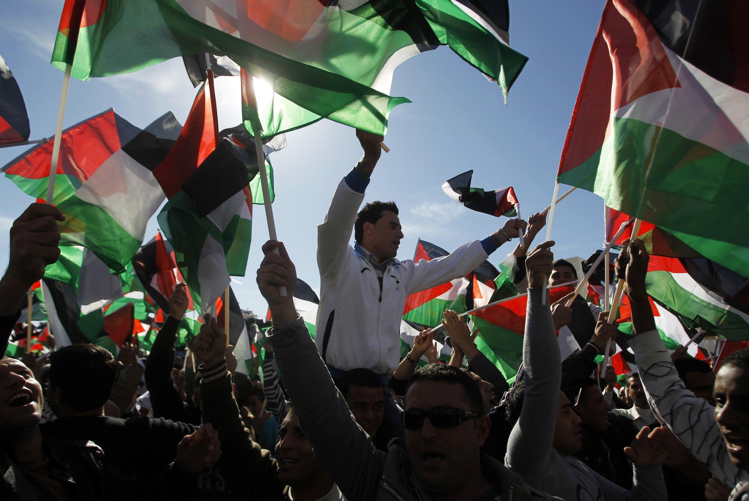 Bendera Palestina Berkibar di PBB
