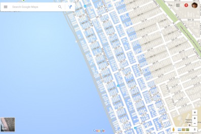 Google Maps Underwater - Sea Level Rise in California
