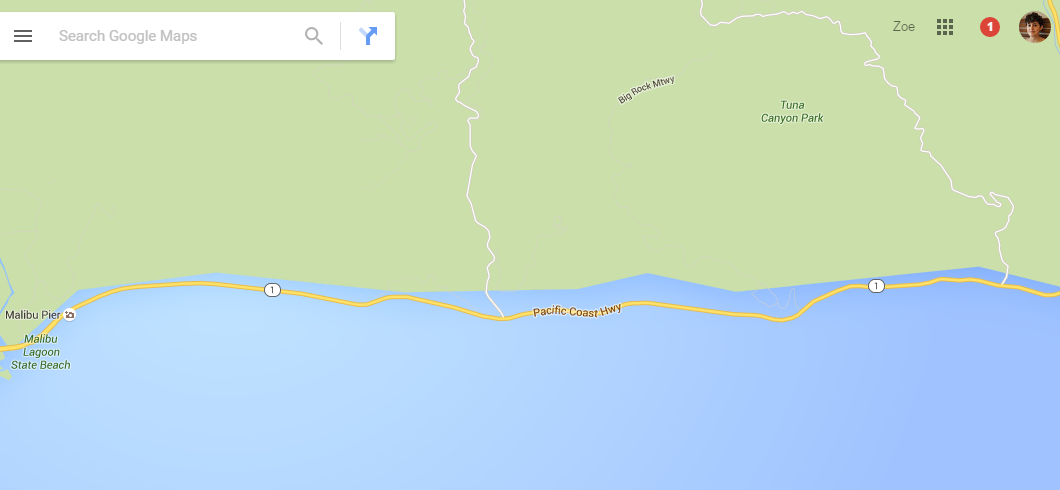 Map Of California Malibu.Google Maps Now Showing Southern California Coastal Cities Drowned