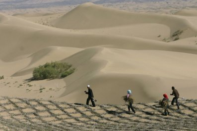Desertification China