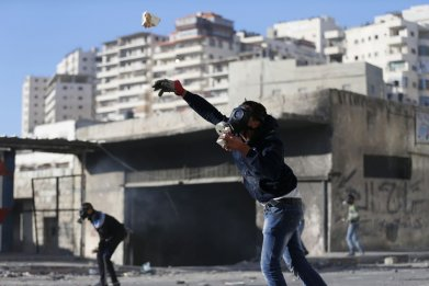Israel Palestinian IDF Stone Throwers