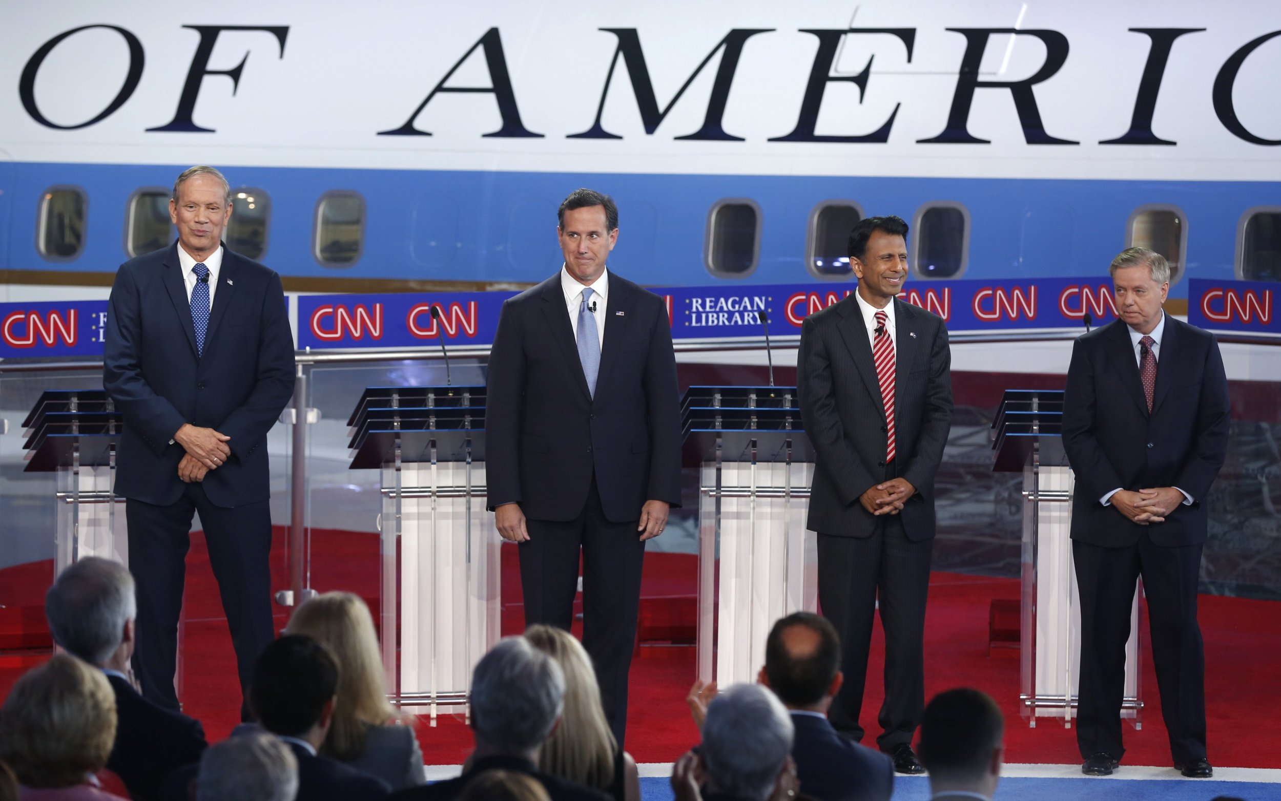 jindal graham santorum pataki square off in undercard debate